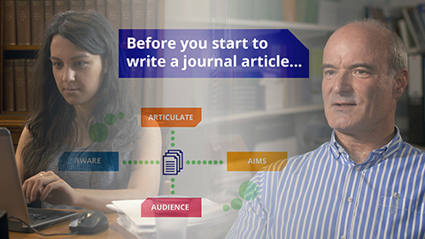 Taylor & Francis: What to think about before you start to write a journal article
